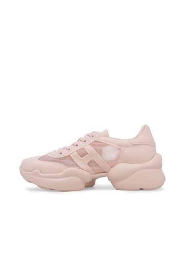 Via Dante Via Dante Kadın Taş Detaylı Günlük Sneakers Pembe